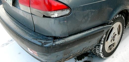 撞裂的bumper