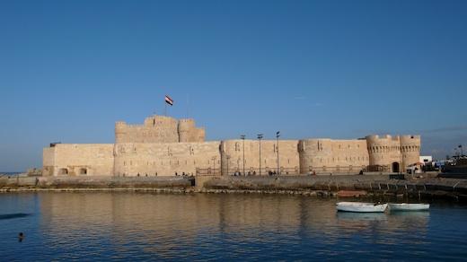 The Qaitbay Citadel In Alexandria